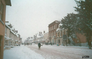 Highworth in the snow photograph 1259
