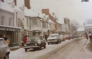 Highworth in the snow photograph 1803