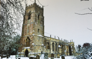 Highworth in the snow photograph 1838