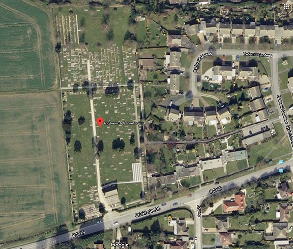 cricklade road cemetery aerial shot
