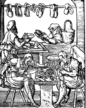 woodcut_of_medieval_shoemaking